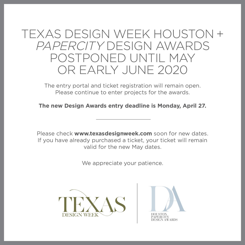 Texas Design Week Postponed