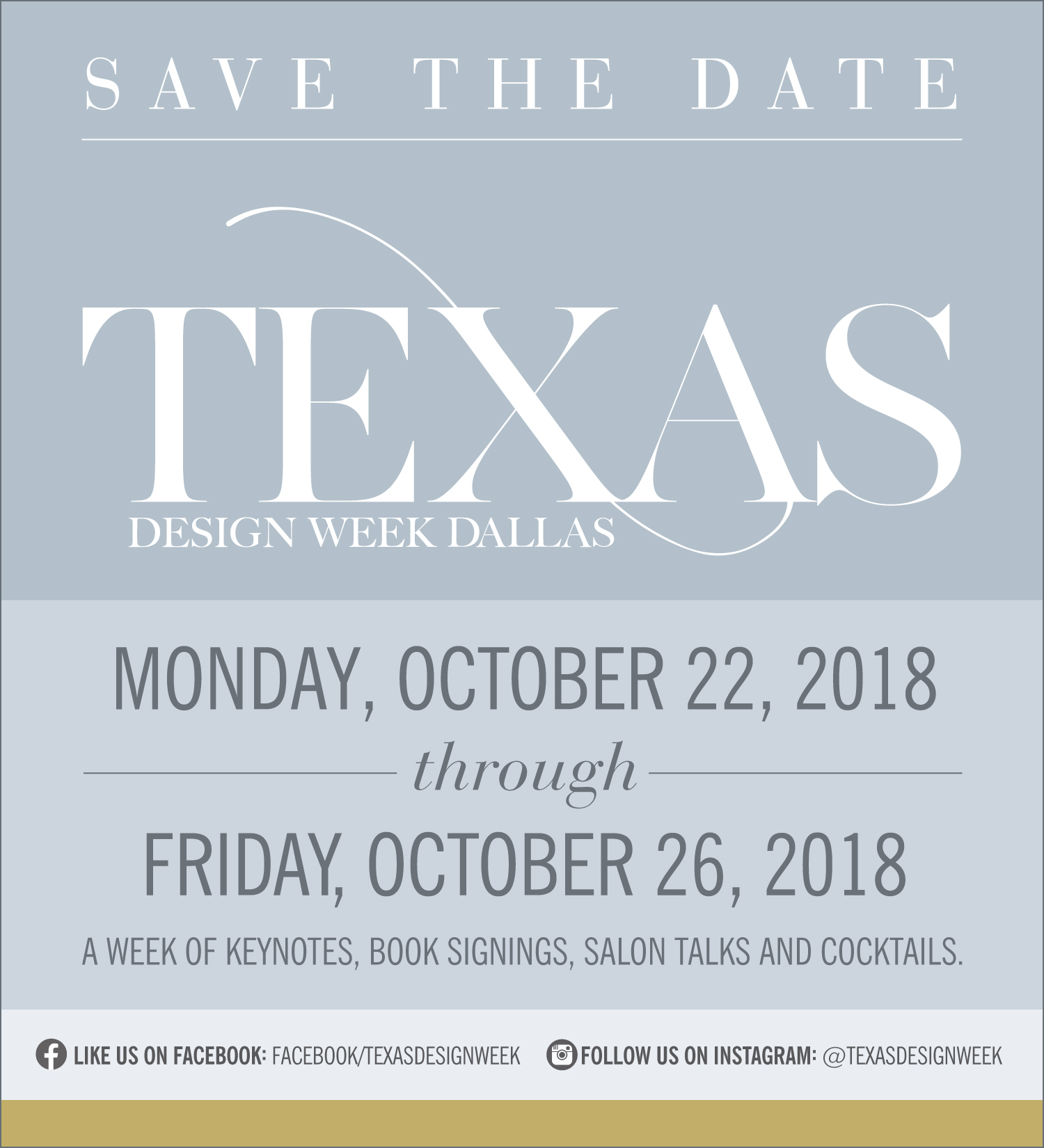Texas Design Week Dallas - Save the Date