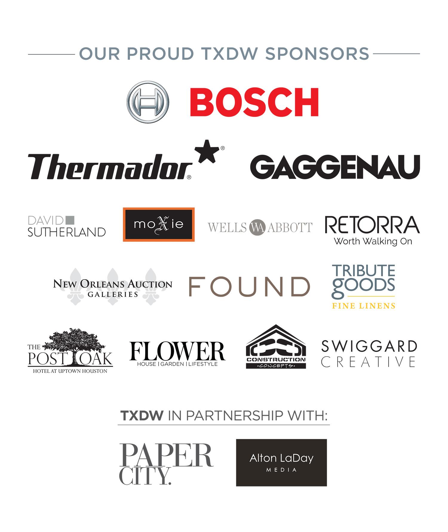 Texas Design Week Sponsors