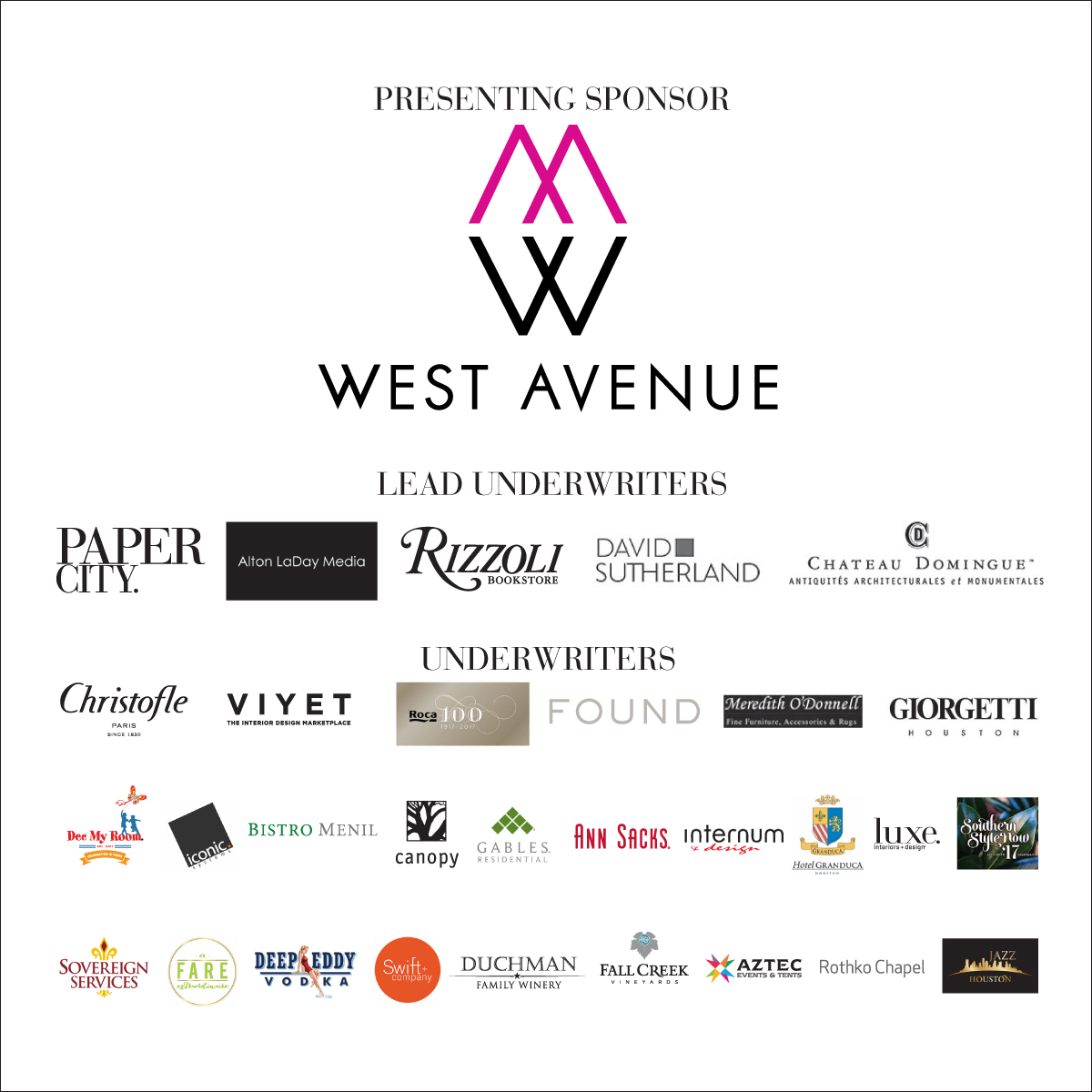 Texas Design Week Sponsors